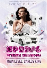 Free Flyer PSD Template – Spring White Session