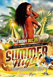 Tropical Summer Night – Flyer PSD Template + Facebook Cover