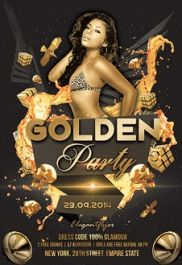 Golden Party – Free Flyer PSD Template