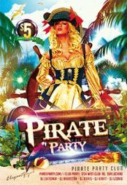 Pirate Party – Club and Party Free Flyer PSD Template