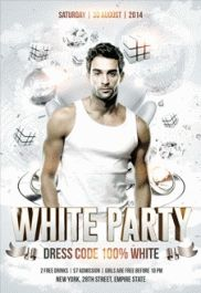 White Party Dress Code Flyer