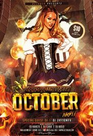 Free Party Flyer for October Night