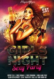Ladies Night – Free Flyer PSD Template + Facebook Cover