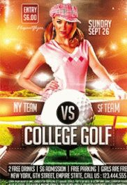College Golf – Premium Club flyer PSD Template