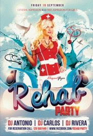 Free Flyer for Rehab Party Club