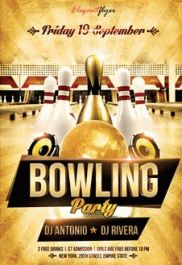 By ElegantFlyer  Bowling Flyer Template Free