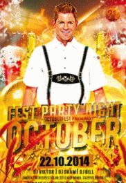 Free Club Flyer for October Fest