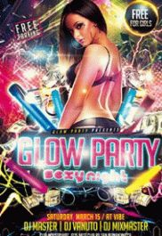Neon/Glow Party – Flyer PSD Template + Facebook Cover