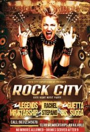 Concert Rock Music – Flyer PSD Template