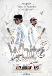 Club Flyer For White Party