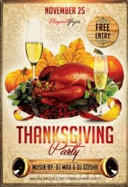 Thanksgiving Nights – Premium Club flyer PSD Template