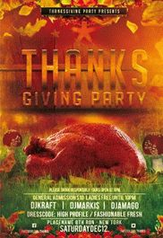Thanksgiving Day Tri-Fold Brochure