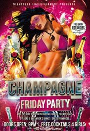 Free Flyer for Champagne Friday
