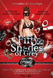 50 Shades of Grey Party PSD Template