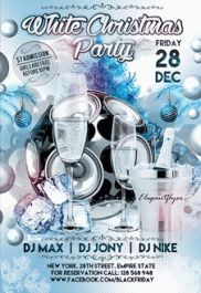 Poster for White Christmas Party