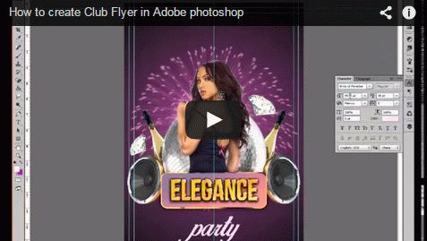 How to create Club Flyer in Adobe photoshop. Tutorial from Elegantflyer