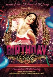 Birthday Party – Premium Club flyer PSD Template