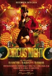 Circus Night Club Flyer
