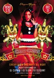Free Flyer Template for Circus Party