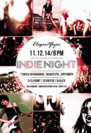 Indie Week – Flyer PSD Template + Facebook Cover