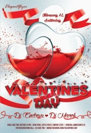 Valentines Day – Club and Party Free Flyer PSD Template