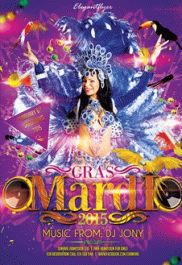 Mardi Gras Night – Flyer PSD Template + Facebook Cover