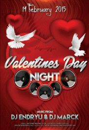 Valentines Day Night Party Template