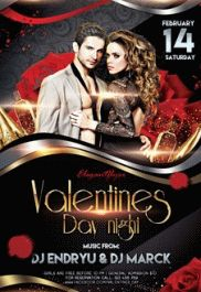 Roses for Valentines Night Flyer
