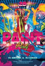 paint party 2 premium club flyer psd template by elegantflyer