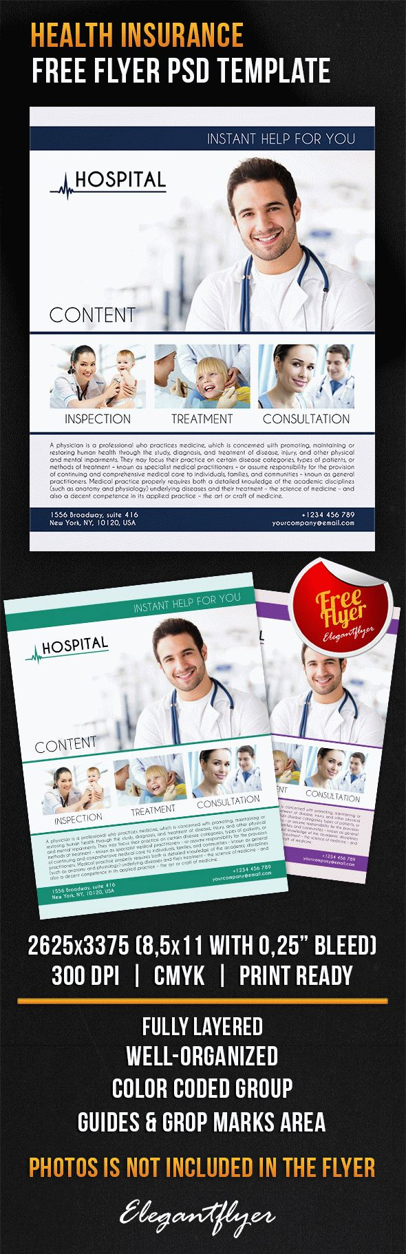 Health Insurance – Free Flyer PSD Template
