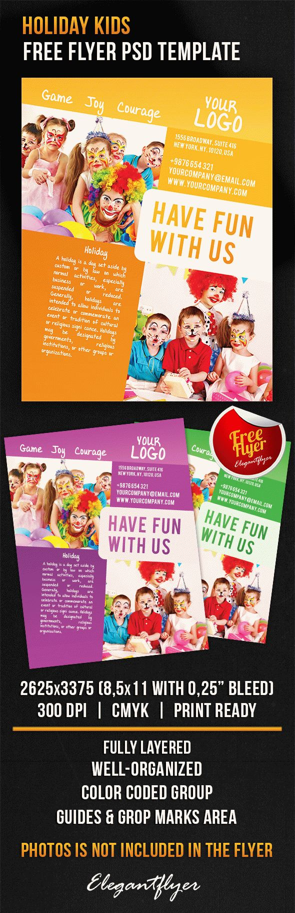 Holiday Kids – Free Flyer PSD Template