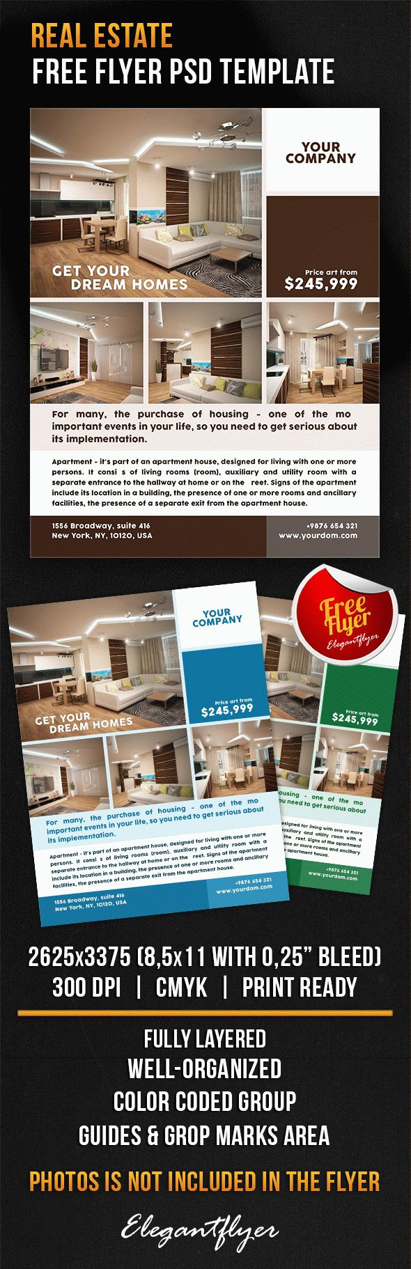 real estate flyer psd template by elegantflyer real estate flyer psd template