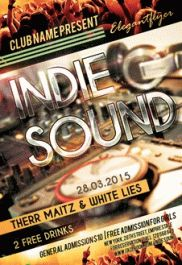 Indie Sound – Premium Club flyer PSD Template