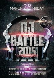 Dj Battle 2015 – Premium Club flyer PSD Template