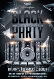Black party – Premium Club flyer PSD Template