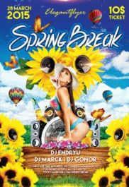 Hello Spring Party – Flyer PSD Template + Facebook Cover