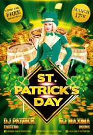 St. Patrick's Day – PSD Flyer Templates + Facebook Cover
