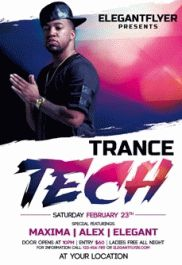 Tech Trance Club Flyer
