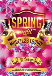 Club Flyer for Spring Night Party