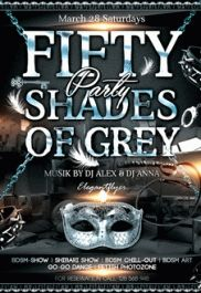 50 Shades of Grey Party – Premium Club flyer PSD Template