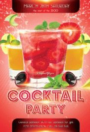 Free Cocktail Party PSD Template