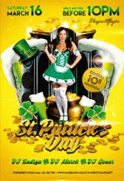St.Patrick's Day Party Flyer in PSD