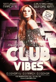 Club Vibes – Premium Club flyer PSD Template