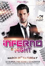 Inferno Night – Premium Club flyer PSD Template