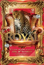 Royal Party – Premium Club flyer PSD Template