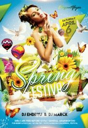 Spring Break 2 – Premium Club flyer PSD Template