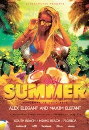 Sexy Summer – Flyer PSD Template + Facebook Cover