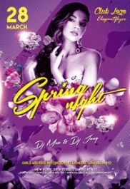 Spring Break V04 – Flyer PSD Template