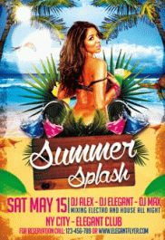 Summer Splash – Premium Club flyer PSD Template