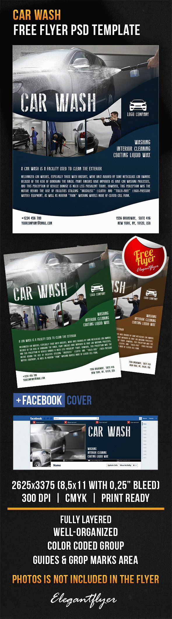 car wash free flyer psd template by elegantflyer. Black Bedroom Furniture Sets. Home Design Ideas